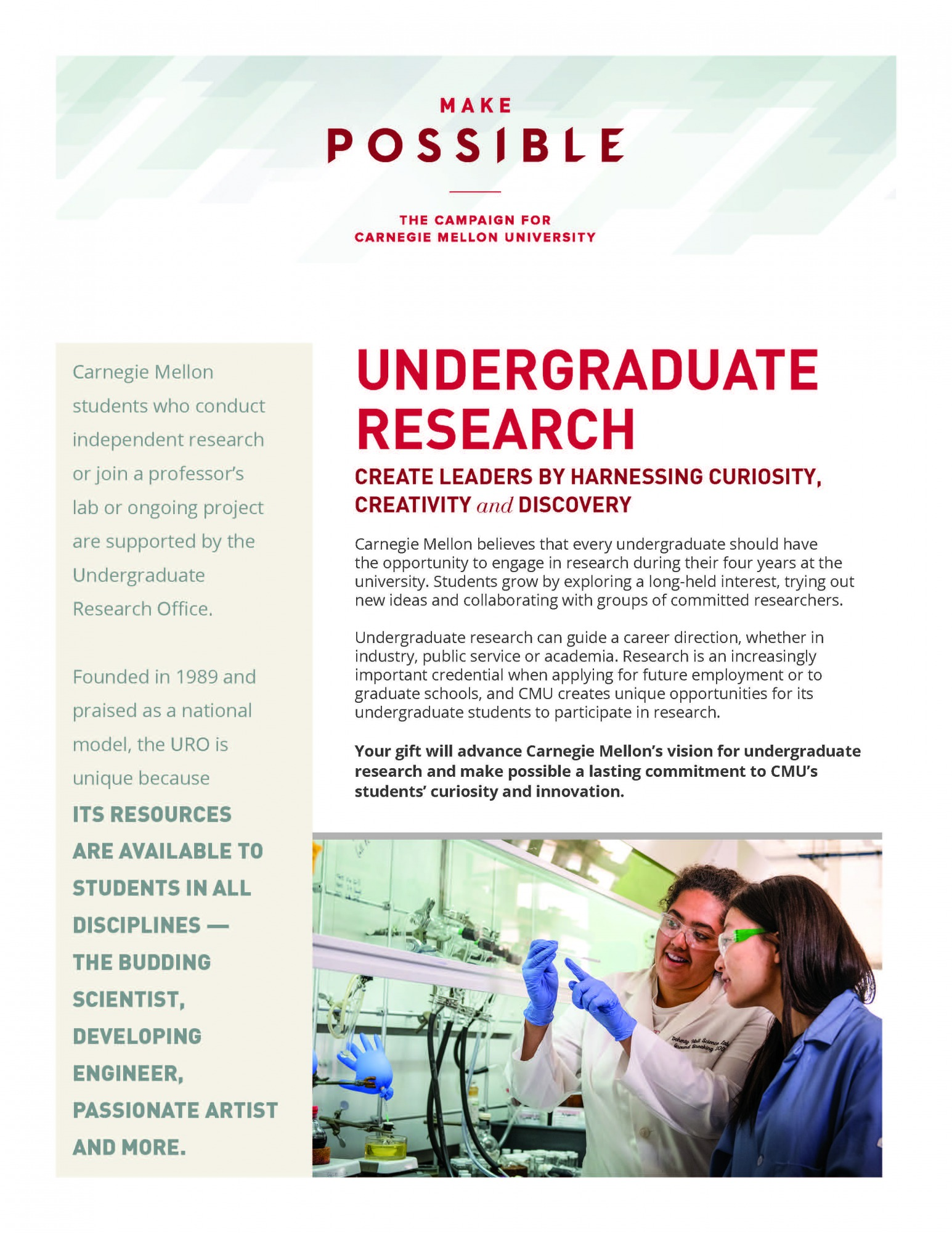 Thumbnail of Undergraduate Research info sheet